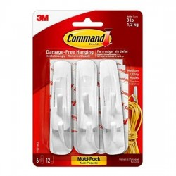 3M Command Medium Utility Hooks [17001-6]