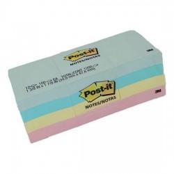 3M 653-AST Pastel Post-it Note 1.5 x 2