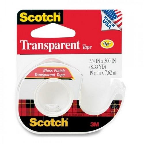 3M Scotch® 157S Transparent Tape 3/4 inch x 300inch