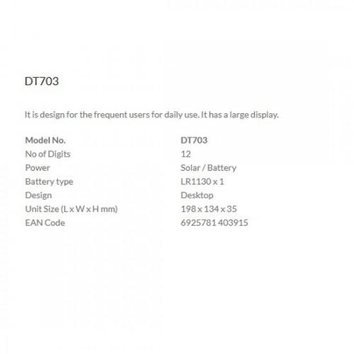 Aurora DT703 12-Digit Desktop Calculator