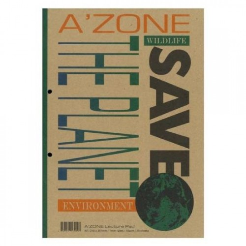 Azone Save The Planet Lecture Pad A4