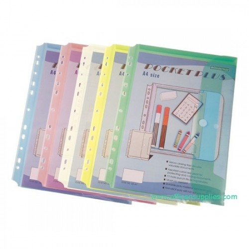 Bindermax US67 11 Hole Pocket Folder with Velcro