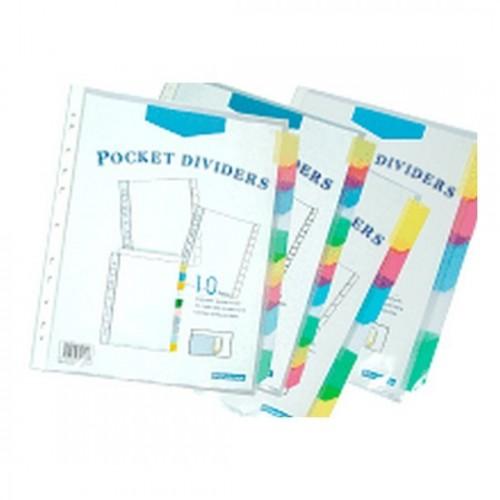 Bindermax 5 tab Pocket Dividers