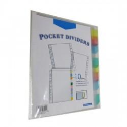 Bindermax 10 tab Pocket Dividers
