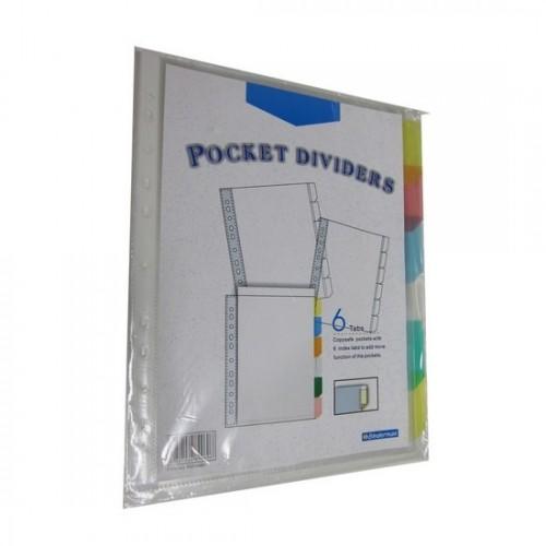 Bindermax 6 tab Pocket Dividers