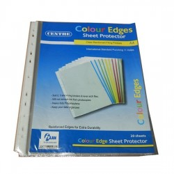 11-Hole Sheet Protector Colour Edge 0.06mm (20s)