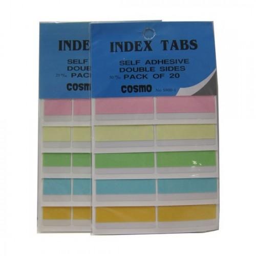 Cosmo Plastic Index Tab