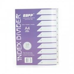 PP Plastic Grey Divider 1-10