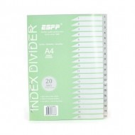 PP Plastic Grey Divider 1-20