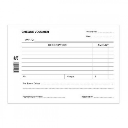 Cheque Voucher Pad