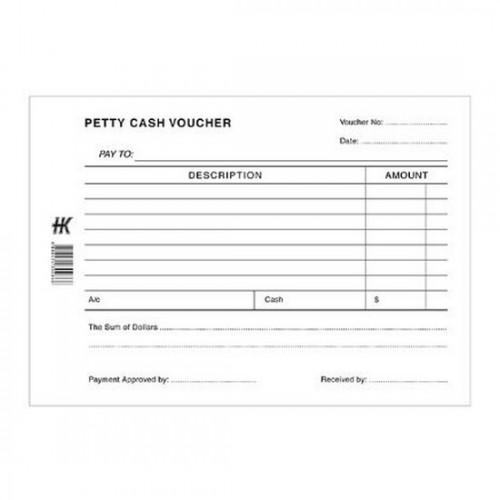 Petty Cash Voucher Pad