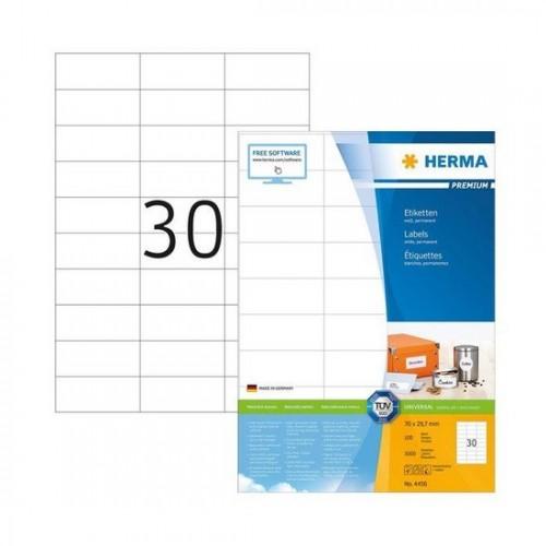 Herma 4456 Superprint 70X29,7 (3000S) Wht