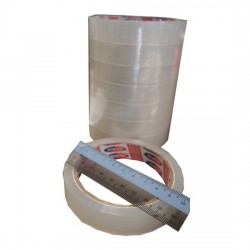 Hunter Clear Tape 18mmx3in (8rolls)