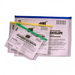 Transparent Soft Zip Bag B4 (2s)