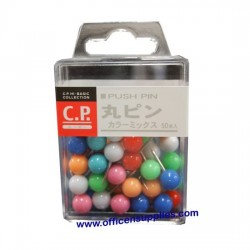 Lemon 887073 Round Push Pin Coloured