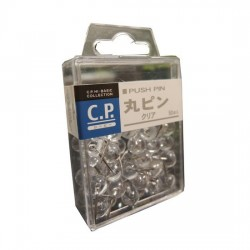 Lemon 885721 Round Push Pin Clear LS10