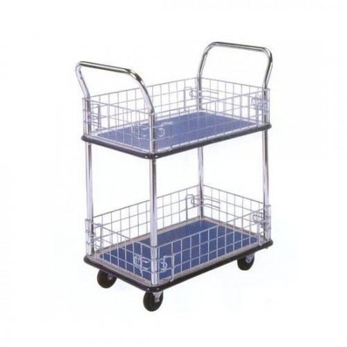 2-tier Platform Trolley with Baskets NB-127 (Mail Cart)