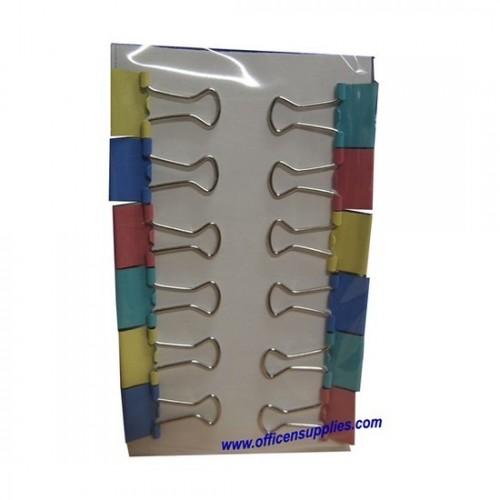 Colour Binder Clips 15mm (12 pcs)