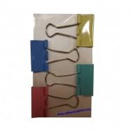 Colour Binder Clips 32mm (4 pcs)