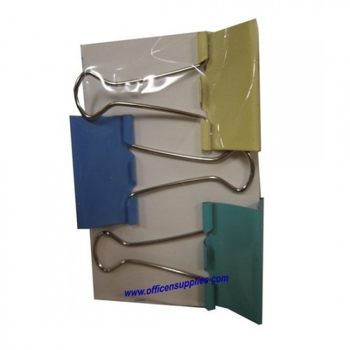 Colour Binder Clips 41mm (3 pcs)