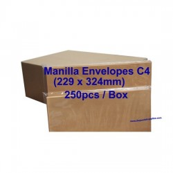Envelope C4M 9X12-3/4 Manilla (box)