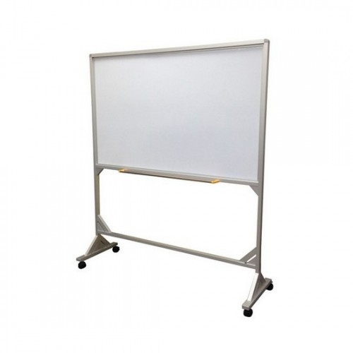 Mobile Magnetic Whiteboard - Aluminum Stand (Single) Ht: 1.8m
