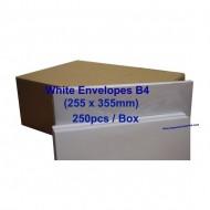 Envelope B4W 10X14 White (box)
