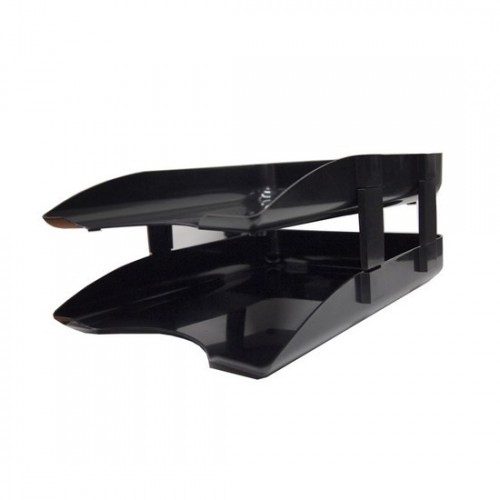 2-Tier Document Tray with Plastic Riser