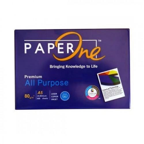 A5 80gsm Paperone Blue All Purpose Copy Paper (10 reams per box)