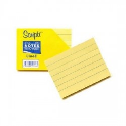 Scripti 50346 Stick-On NotePad 3X4 with line (6 Pads)