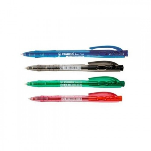 Stabilo Liner 308 Ball Pen (Pack of 4)