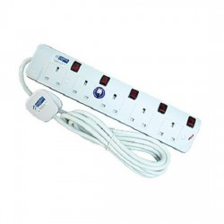 5-Way Portable Socket Outlet (6m)