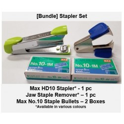 [Bundle-Stapler Set] Stapler Staples Staple Remover