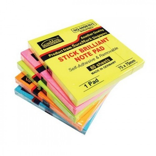Suremark SQ6654 Stick Cube Note Pad 3x3 (5pads)