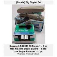 [Bundle-Big Stapler Set] Stapler Staples Staple Remover