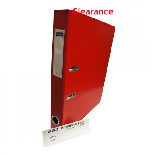 Yamano 2 Inch FS PVC Lever Arch File #09 Red