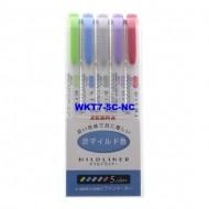 Zebra Mildliner cool Marker HIghlighter WKT7-5C-NC