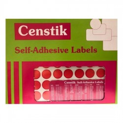 Censtik Red Seal Self-Adhesive Labels