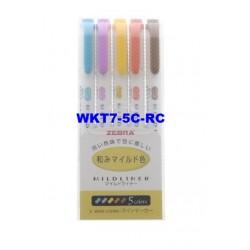 Zebra Mildliner WARM Marker WKT7-5C-RC