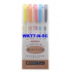 Zebra Mildliner Fluo Marker WKT7-N-5C