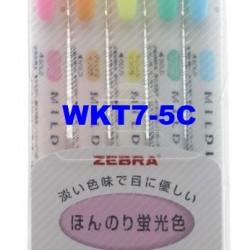 Zebra Mildliner Fluorescent Marker WKT7-5C