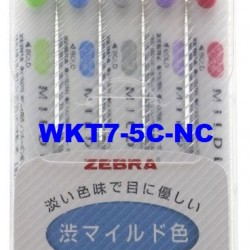 Zebra Mildliner cool Marker HIghlighter WKT7-5C-NC