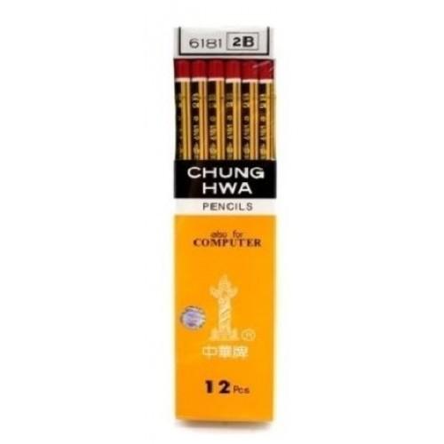 Chung Hwa 6181 2B Pencil 12s