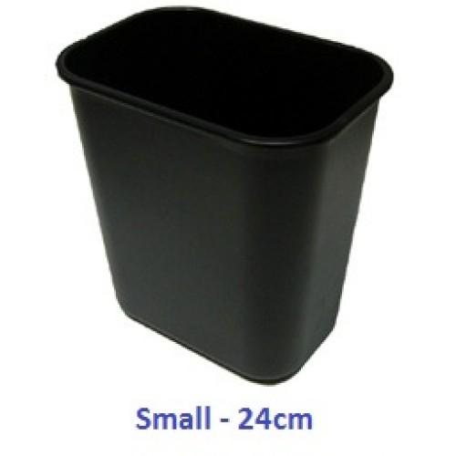 Plastic Dustbin Black 24cm LX2417