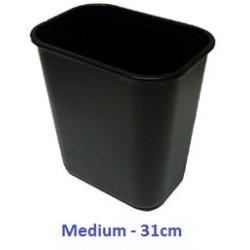 Plastic Dustbin Black 31cm LX3121