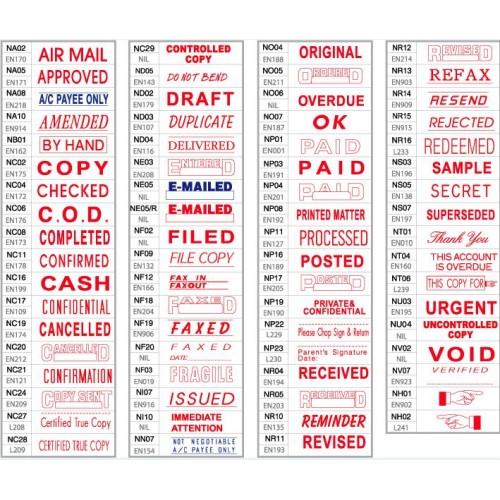 Shiny OA Pre-inked Stamp
