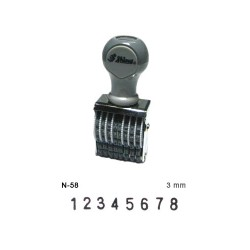 Shiny N-58 8 Band Number Rubber Stamp