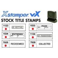 Xstamper VX Pre-inked chop