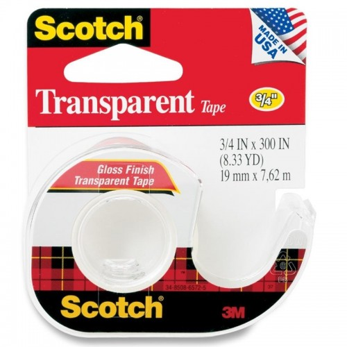 3M Scotch® 157S Transparent Tape 3/4 inch x 300inch