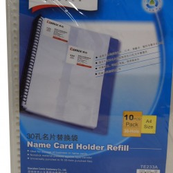 Comix TE233A 30-Hole Namecard Holder Refill